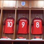 ???? @MarcusRashfords number nine shirt hangs in the #ThreeLions dressing room at the @StadiumOfLight. https://t.co/SQJdbOG9W3