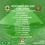 The starting 11 for tonights @VauxhallNI International Challenge match against Belarus!! ⚽️ #GAWA #DareToDream https://t.co/vbtlNAWtcj