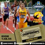 TICKET PUNCHED: #Hawkeyes Carter Lilly advanced by time to the #NCAATF Championships! #TheNextB1GThing https://t.co/egPSJWF0Px