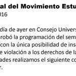 Para #UdistasBolívar Comunicado Oficial Movimiento Estudiantil PROudistas #NoAlSemestreCHUCUTO #UdistasUNIDOS (1/3) https://t.co/BDgFvEkQaX