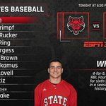 Heres your @ASTATEBaseball starting lineup against Texas State in another elimination game. #WolvesUp https://t.co/xbiJB4BjBS