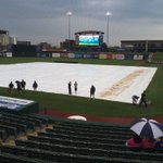 Brief shower passing through. Crew getting ready to pull of tarp. First pitch now 7:45pm. #SBCubs https://t.co/wcbBbQix5V