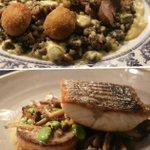 Rare Breed Pork Loin & Polpette, Cider Lentils & Mustard Cream Stonebass, Fondont, Wild Mushroom & Chicory #belfast https://t.co/aaCXS1h4Sy