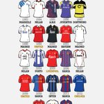 23 years of @ChampionsLeague winning kits ???? But whose shirt will be number 24? https://t.co/HEc992D9Pg
