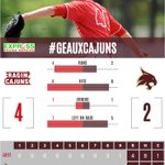FINAL: Louisiana 4, Texas State 2, Cajuns have won 8 straight and are in the drivers seat at the @SunBelt tourney. https://t.co/LWkP207gnB
