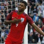 Marcus Rashford: Man Utd debut: First shot = ⚽️ PL debut: First shot = ⚽️ England debut: First shot = ⚽️ Deadly. https://t.co/lMeYZ5W9EN