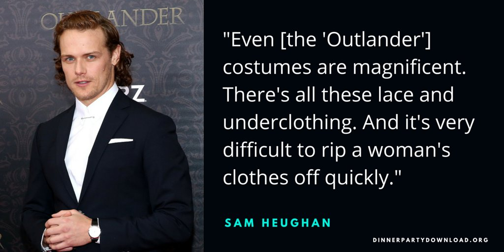 .@Outlander_STARZ's @SamHeughan gives advice and tells us bodice-ripping is tough stuff https://t.co/8hw7ffMUcv https://t.co/XKNmGoJd4p