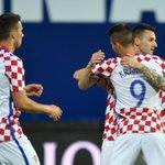 #Croatia celebrates taking the lead against #Moldova in Koprivnica friendly. #BeProud #CROMDA #RedWhiteBlue https://t.co/yKxoTQCJyi