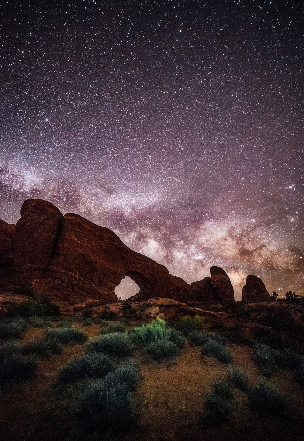 Milky Way over Arches National Park, #Utah | Photography by ©Hunter Day https://t.co/vye0AEUwhg