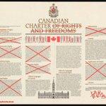 #ThankYouStephenHarper for gutting our Canadian Charter. #cdnpoli #C51 Image by @stephenlautens https://t.co/cWmvECvQcu