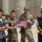 #Raqqa American YPG fighters today near Northern Raqqa fronts. via Baran Misko, NRT. https://t.co/NcQxqLwnt3