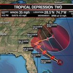 2nd Depression of season forms in Atlantic; will threaten Carolinas this weekend. https://t.co/oWzT6gQtGS #tropics https://t.co/3y36AGX9UA