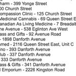 Heres a list of all Toronto dispensaries that were raided yesterday. https://t.co/XvlL3sv3nn