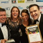 Were delighted with our award @BelfastChamber @B2BCommsNI, a few of the smiles say it all https://t.co/Iz7OWPhXZT