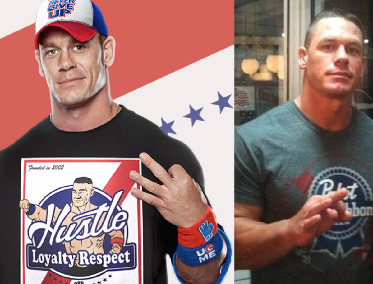 A message to @JohnCena & the @WWE: We have a chokehold called the Cease & Desist. Pretty sure we see you