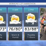 An early look at the marathon forecast. Sharon & Keith are live in Burlington tonight w/ marathon coverage on The 30 https://t.co/2QPuIUqVuq