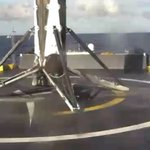 Falcon 9 second stage and THAICOM 8 spacecraft in nominal orbit and coast. First stage has landed on the droneship https://t.co/NH52PHhpyE