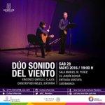 """Hoy, """"Dúo Sonido del Viento"""". Sábado 28 de mayo a las 19:00 h. #Cuernavaca #Morelos https://t.co/iXZSI3IO12"""