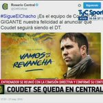 Eduardo Coudet continúa al frente de Rosario Central https://t.co/qKArnBBbky