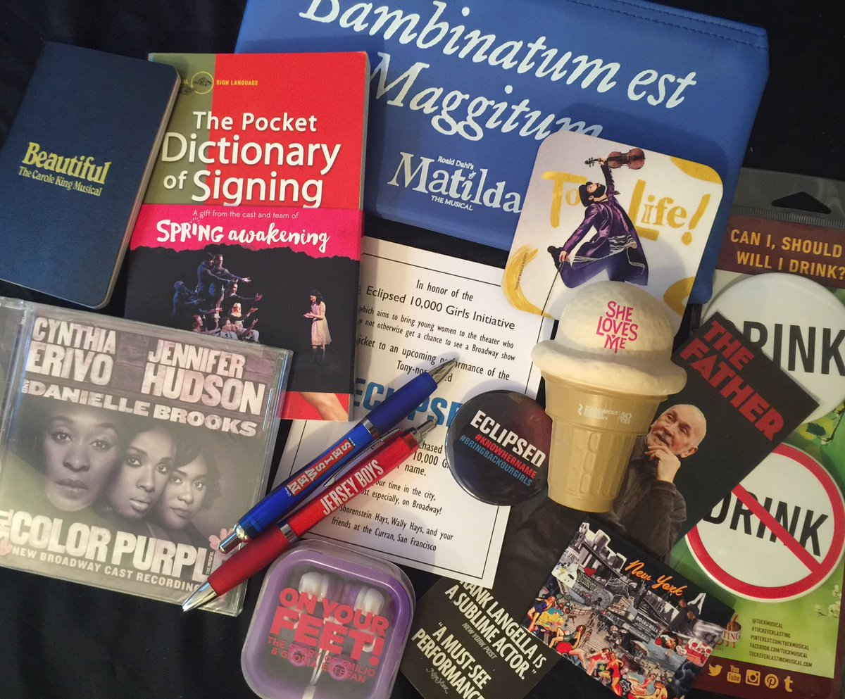One of my followers will #win this goodie bag feat. past & current TONYs nominated shows (shipped free within US)... https://t.co/KTHPdG7cVt