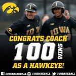 Congrats to @rheller21 for winning his 100th game as a Hawkeye!  #Hawkeyes #B1GBaseball https://t.co/7TYc0vP8ec
