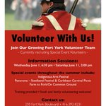 Want to #volunteer with @fortyork this year? Special Events Volunteers needed! https://t.co/wqxJoaZleV #Toronto https://t.co/rMI4oDP5za