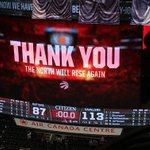 The Raptors season comes to an end. It was a great run! Raptors Gamenight continues here: https://t.co/y5gGXt7KiY https://t.co/GdLEbdvQxU