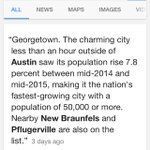 Georgetown is the fastest-growing city in the nation..???? https://t.co/X4JwMfLXrg
