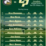 The #Stangs lineup for their penultimate game of the season against Davis... #GoPoly https://t.co/MphnneT2s6