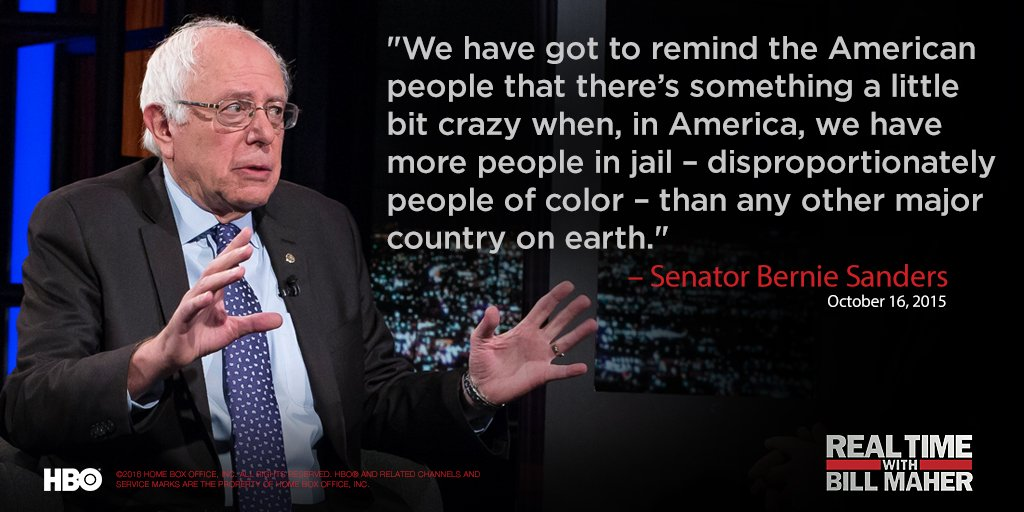 You can always count on @BernieSanders for some #RealTalk. He's back for his 11th #RealTime appearance tonight @ 10!