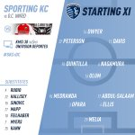 Your #SportingKC starting XI for #SKCvDC. Watch tonights match at 8:30pm on @38TheSpot @UnivisionSports! https://t.co/R11Sqoj5gp