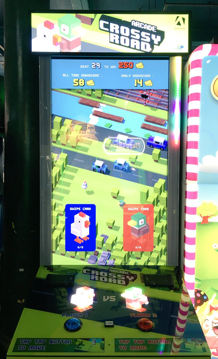 Visited an arcade for the first time in awhile. So many iPhone games turned arcade games, vertical screen and all! https://t.co/iLRO99m8C9