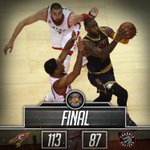 FINAL: Cavs eliminate the Raptors in 6 games and return to the NBA Finals! HIGHLIGHTS: https://t.co/dVNKrsEv2D https://t.co/ATekY8QEsg