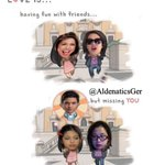 LOVE is... Having fun with Friends...but missing YOU...???? @mainedcm @aldenrichards02 #ALDUBSepAnx https://t.co/MpwOyk6YeT