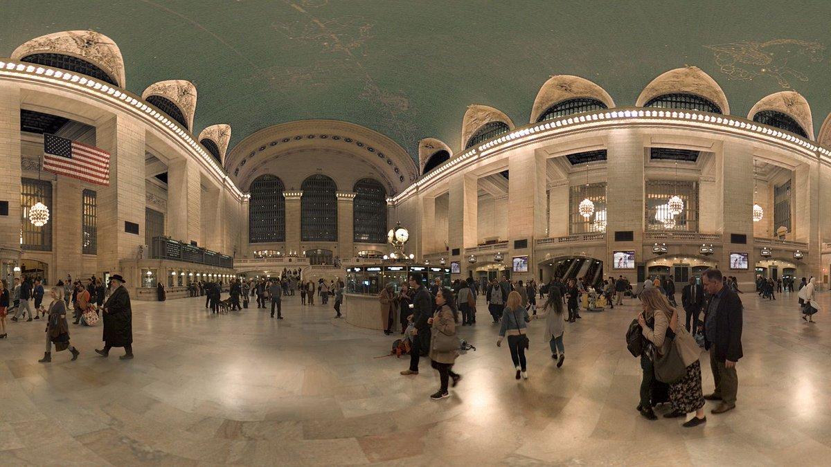 Stunning 360-degree video of #GrandCentral Terminal- https://t.co/ob835Rnmef MT @terrinakamura https://t.co/qZ8m5XZtyg