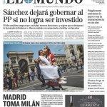 """A partir de hoy queda claro, Sánchez dejara gobernar a pp si el no lo consigue, """" que no lo conseguirá."""" https://t.co/9NyihyP0pe"""