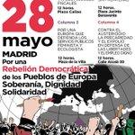 En unas horas volvemos a las calles de #Madrid Por una rebelión democrática de los Pueblos de Europa.#TTIP #refugees https://t.co/doEBptFaxP