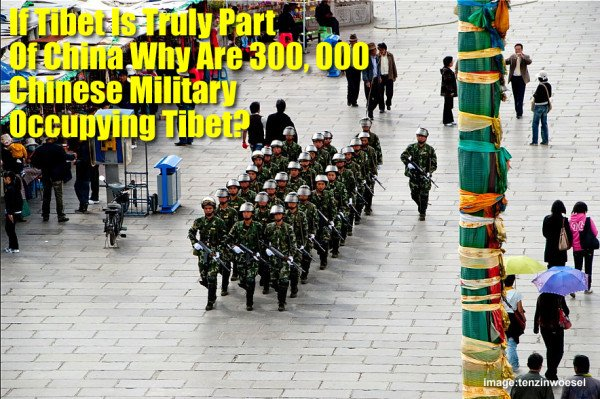 If #Tibet was 'peacefully liberated' by China in 1950 why have an occupying army of 300,000 to 'police' #Tibetans? https://t.co/diLM7zhigQ