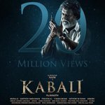 #Kabali Official Teaser Crossed 20M Views On @YouTube First Indian Teaser Acheived The Record @beemji @theVcreations https://t.co/LsTpRuGKPJ