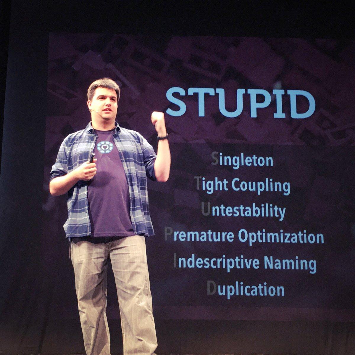 """The #php born """"Stupid"""" principle according to  @rdohms  #phpsrb2016 #phpsrb16 https://t.co/E7U6xhTEiH"""