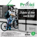 Con #ProBici promovemos el transporte multimodal. Hoy, tu bici también viaja en Tren Ligero. #MuévetePorTuCiudad https://t.co/OBezg2QZqd