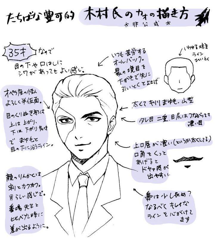 影鰐の木村さんの描き方ポイント。備忘録も兼ねて。あわよくば…描いてくれる方が増えたら…なんて。