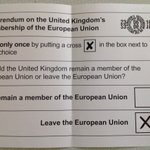 My completed postal vote. I want my country back! I value freedom and democracy above all else. #Brexit https://t.co/k4XH6XnFvN