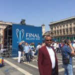 In Milan for the UEFA champions league final.Is this the day Atletico downs Real Madrid? Lovely Atmosphere here https://t.co/oAKRePiqjZ