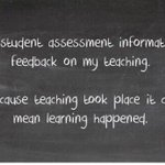 Do you see assessment as feedback on your teaching?  Via @CognitionEdu Visit: https://t.co/WAd8AofX1a for more info https://t.co/7ovYy3QJZS