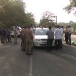 Reconstruction on near Golf Club to find who fired shot at retd judge in Lucknow @meevkt @sengarlive @mishra_au https://t.co/Jx4YMfepWy