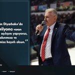 """""""Bugün Diyarbakırda 600 trilyona varan yatırım açılışını yapıyoruz, Diyarbakırımıza ve milletimize hayırlı olsun"""" https://t.co/sipF421e3y"""