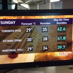 Hot + Humid this weekend #Toronto https://t.co/pKZlvr3aAW