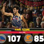 What a Giant result!! Crows win by 22 points over GWS at Adelaide Oval #weflyasone https://t.co/2lTIzV3iox