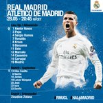 Heres our starting XI for the Champions League final! ????✅ #APorLaUndecima #RMUCL #HalaMadrid https://t.co/qUgFF929jM